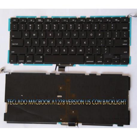 Teclado Macbook Pro 13 A1278  Us con iluminación