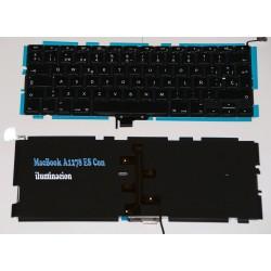 """Teclado del ordenador portátil para Macbook Pro Unibody A1278 Negro 13 """""""