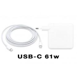 Cargador Apple MacBook Pro MPDL2ZE/A-USB-C Adaptador 61W