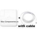 Genuine Adaptador de corriente USB-C de 87W Apple MNF82Z/A
