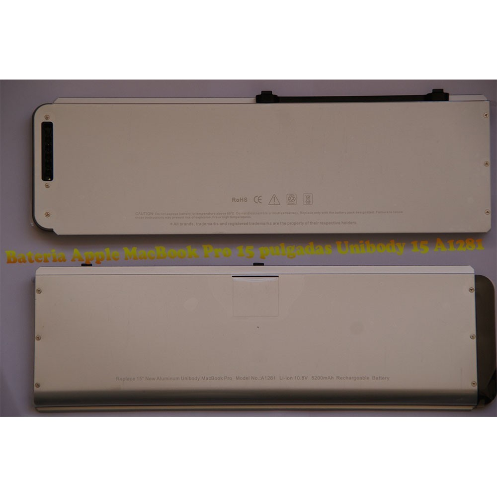 Bateria Apple MacBook Pro 15 pulgadas Unibody 15 A1281