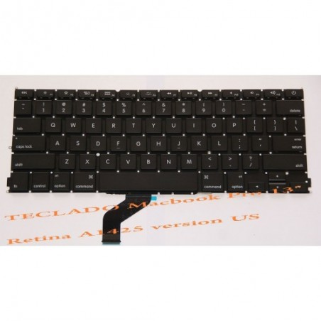 Teclado Apple Macbook Pro 13.3 Retina A1425 ME663 español