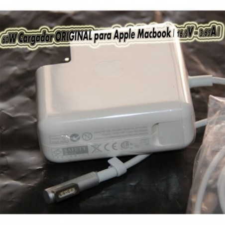 Apple ORIGINAL MC461Z/A - Adaptador de corriente para MacBook (60W