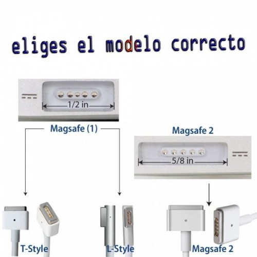 Cargador de Apple Original A1435 60w 16.5v Magsafe 2 Para Macbook pro Retina 15""