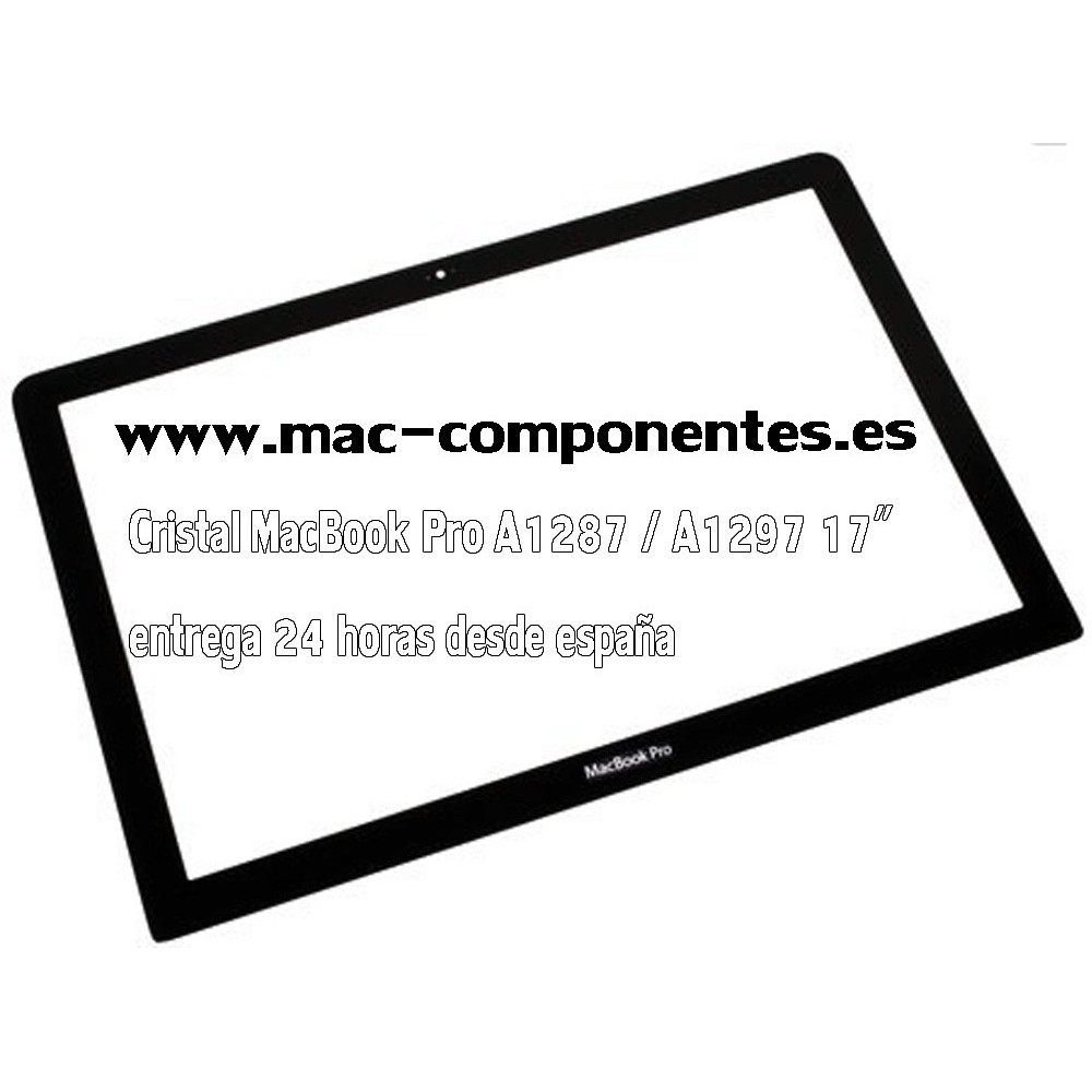 "Cristal FRONTAL PARA APPLE MACBOOK PRO UNIBODY A1287 17"" entrega 24 Horas"