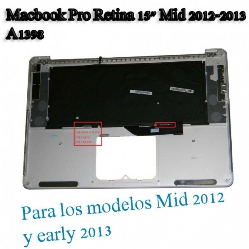 "TOPCASE A1398 ESPAÑOL Macbook Pro Retina 15"" Mid 2012"