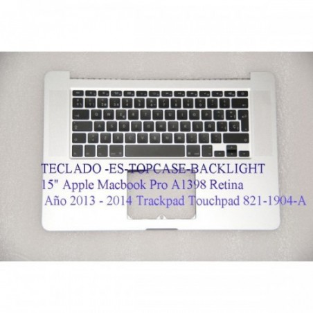 "Teclado-topcase-retroiluminacion 15 "" Apple MacBook Pro A 1398 retina fines de 2013 - 2014 version ES"