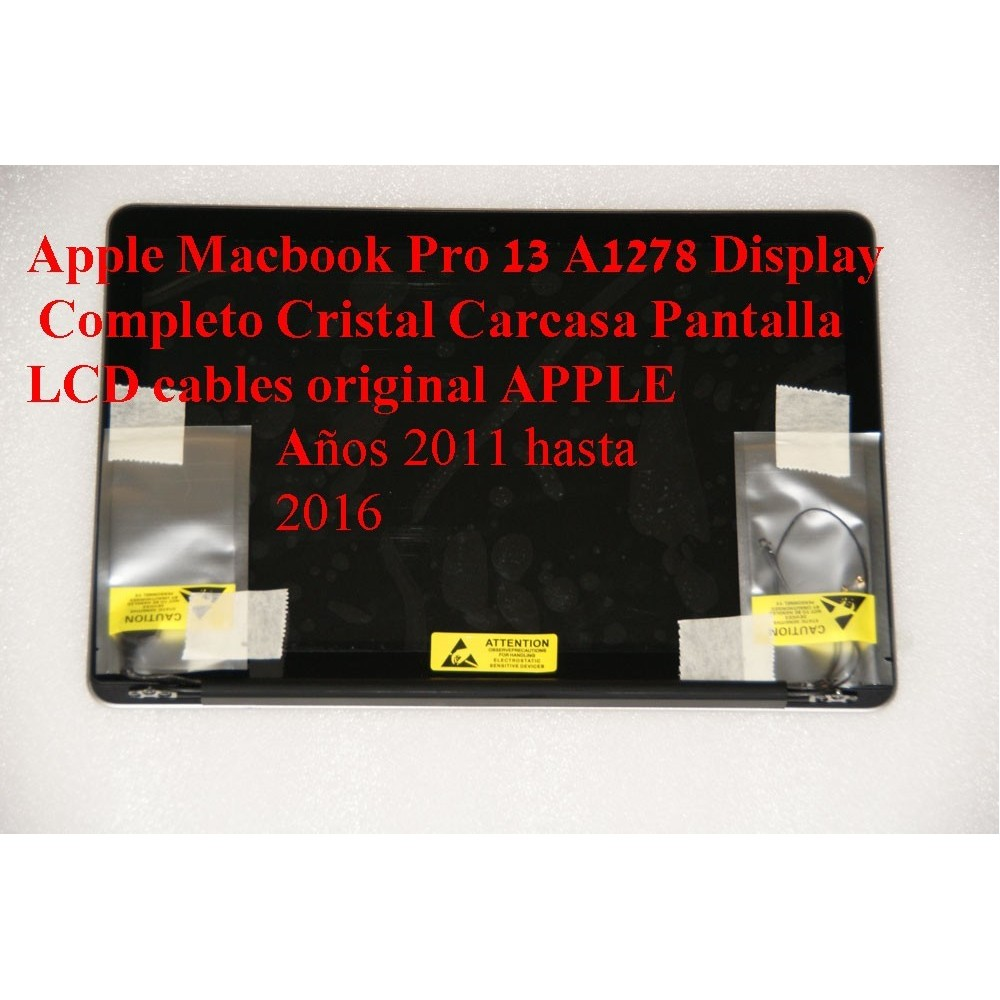 Pack completo Carcasa vidrio pantalla LCD SCREEN cables macbook pro a1278 año 2011