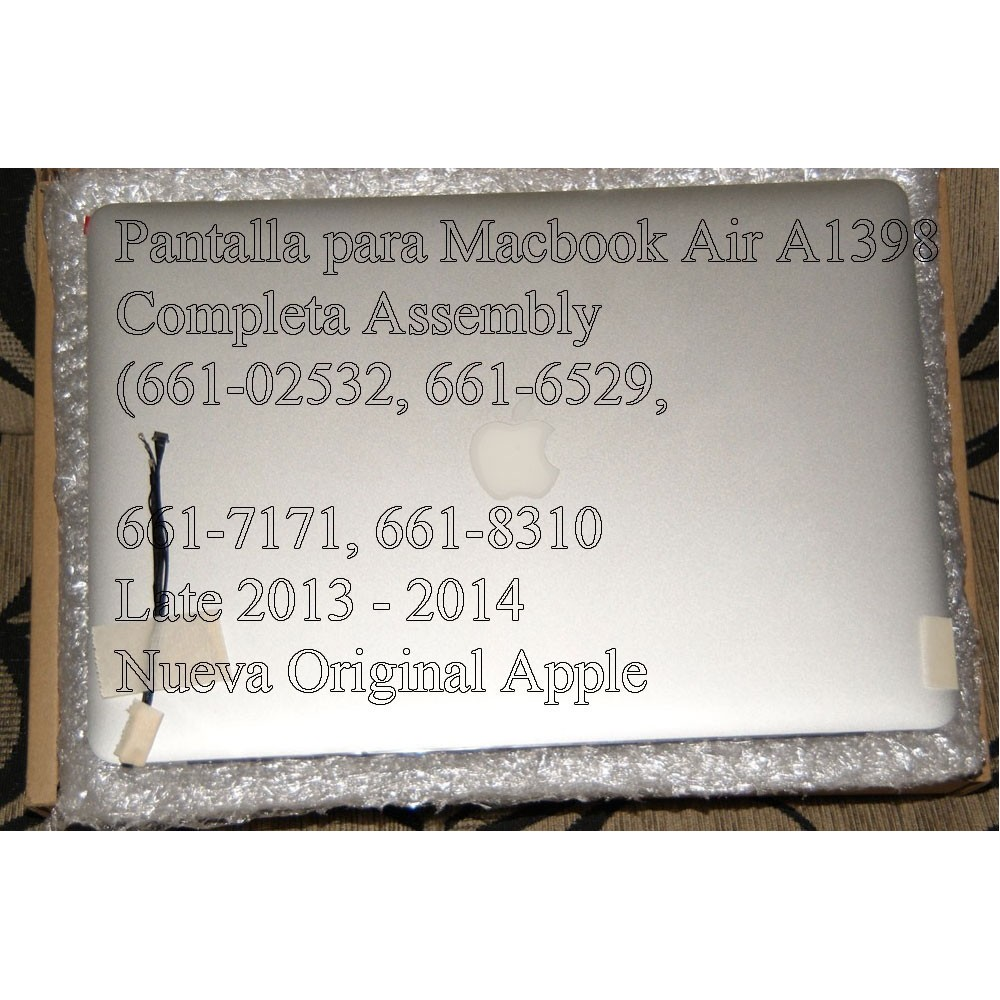 Pantalla para Macbook Pro Retina A1398 Completa Assembly (661-02532