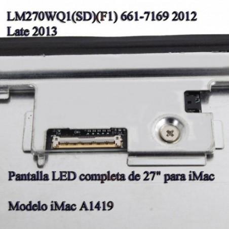 "Pantalla LED completa de 27"" para iMac  Modelo iMac A1419 Finales 2012"